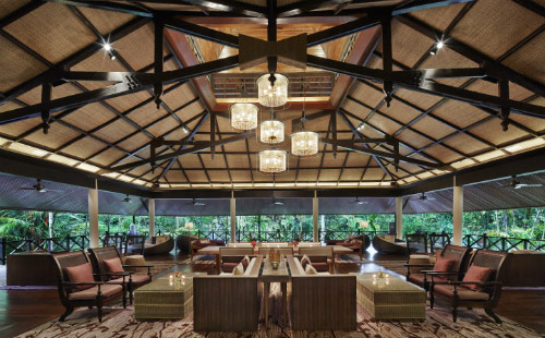 Mulu Marriott Resort & Spa refurbished lobby. Photo Credit: Expatriate Lifestyle.