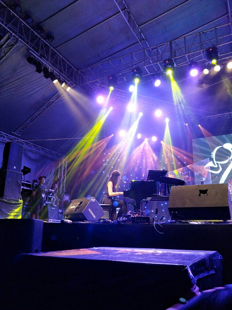 Image shows Laila Biali at Borneo Jazz 2017