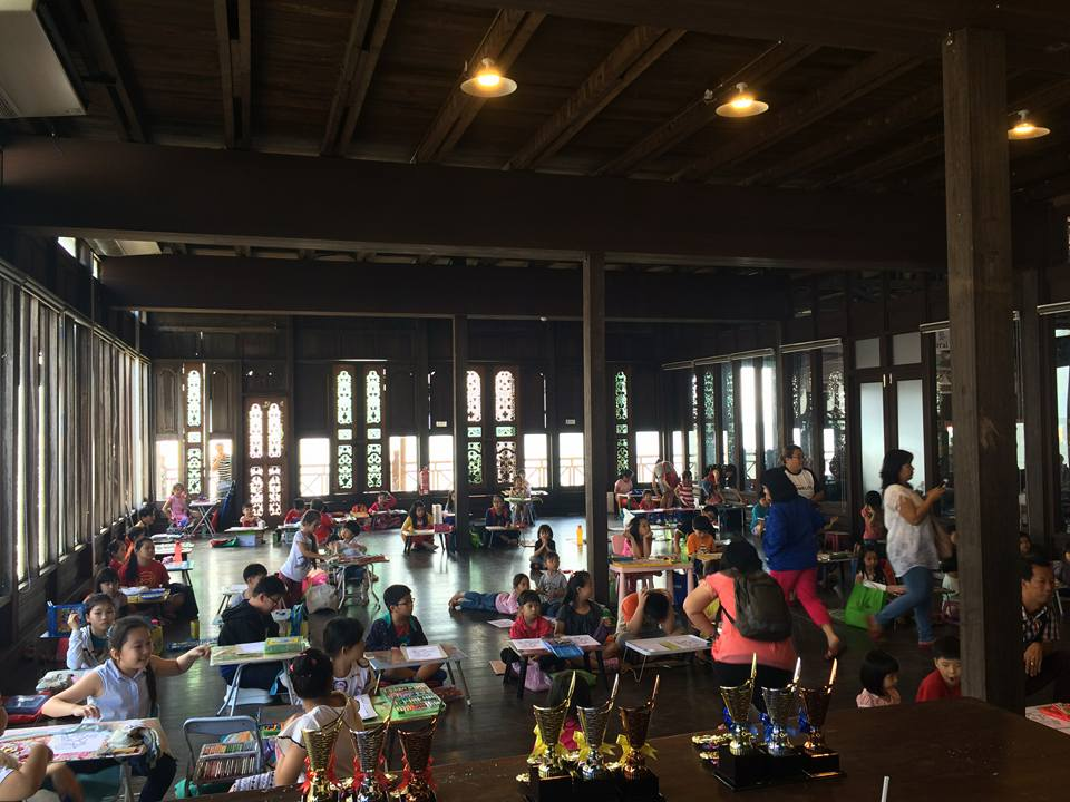 Image shows children's activities held in the intricately carved wooden event hall. Photo taken from Coco Cabana Facebook page.