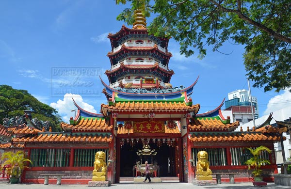 Image shows the Tua Pek Kong in Sibu. Photo Credit: Borneo Post