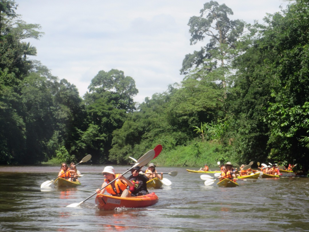 Kayakers enjoying the Semadang River
