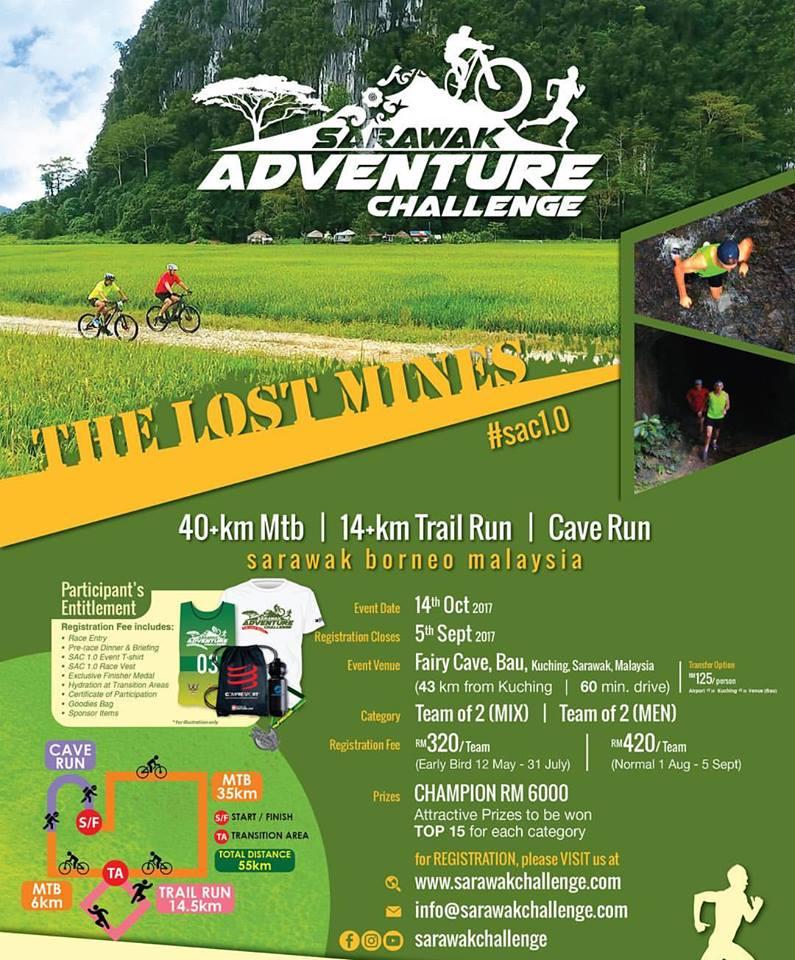 Sarawak Adventure Challenge poster.